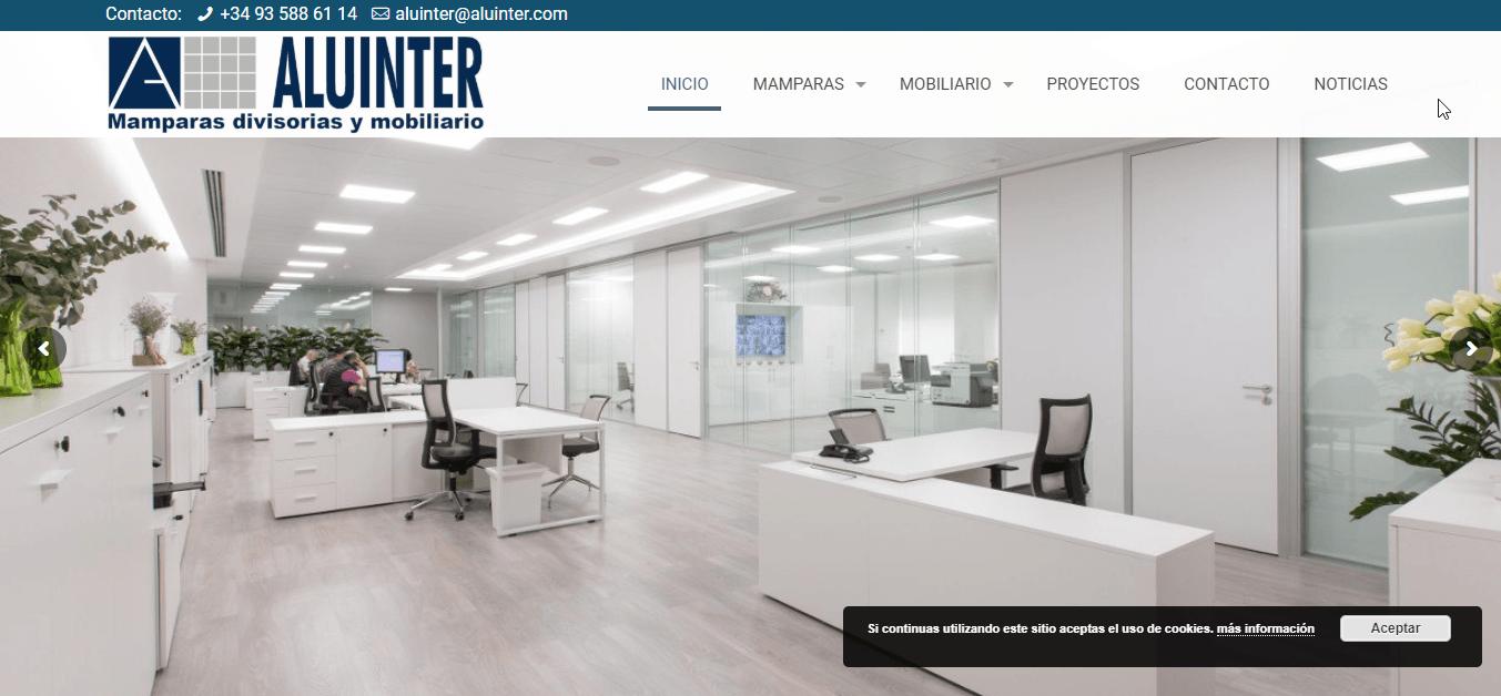 new web - Nueva web de Aluinter